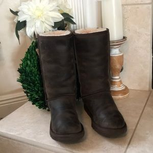 UGG Brown Classic Tall Leather Boots